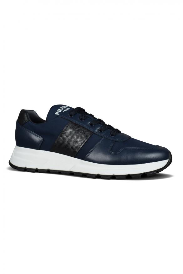 Men's luxury sneakers - Prada sneakers model Prax 1 ocean blue
