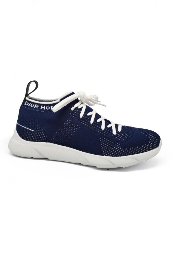 Luxury sneakers for men -  B21 Socks Dior sneakers in blue technical knit