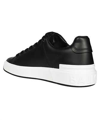 b-court embossed low-top sneakers