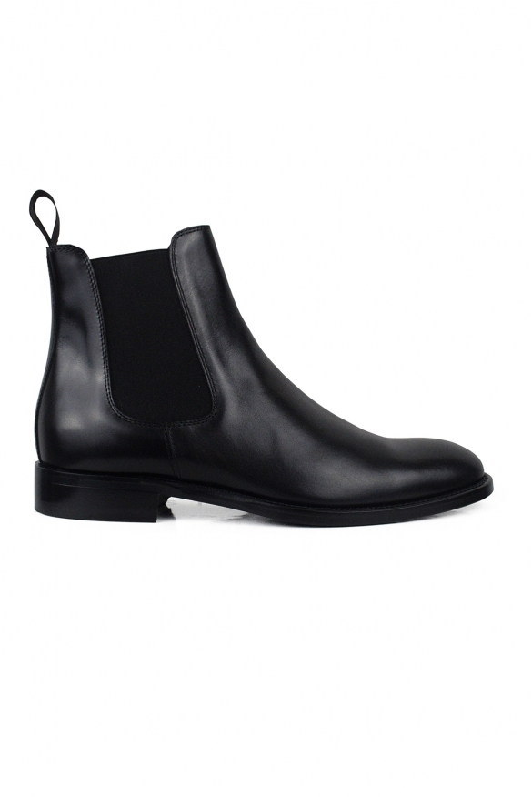 Luxury shoes for men - Black leather boots
