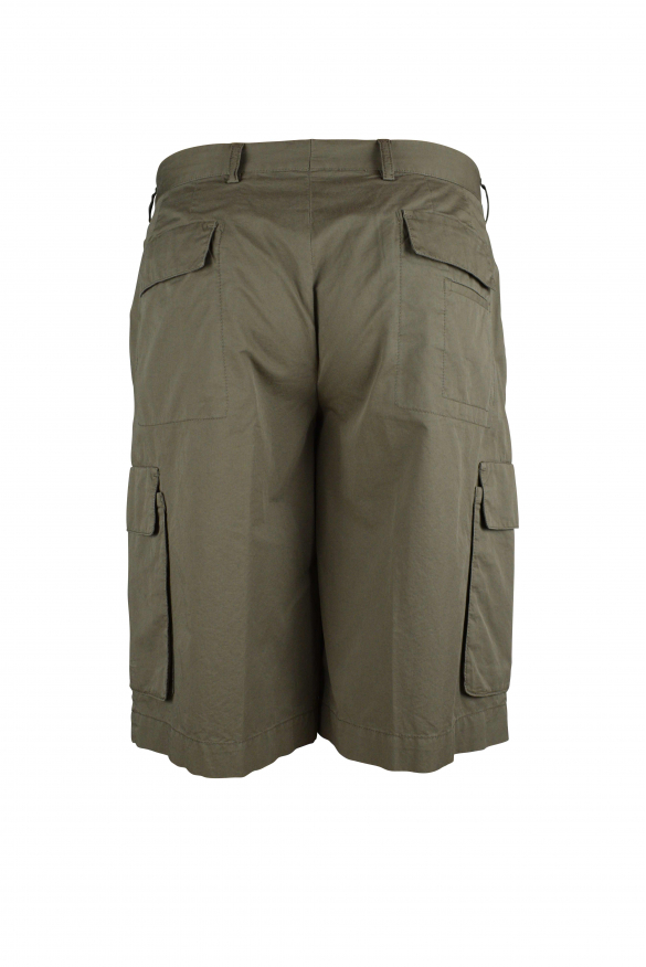 Luxury shorts for men - Prada khaki shorts with multiple pockets