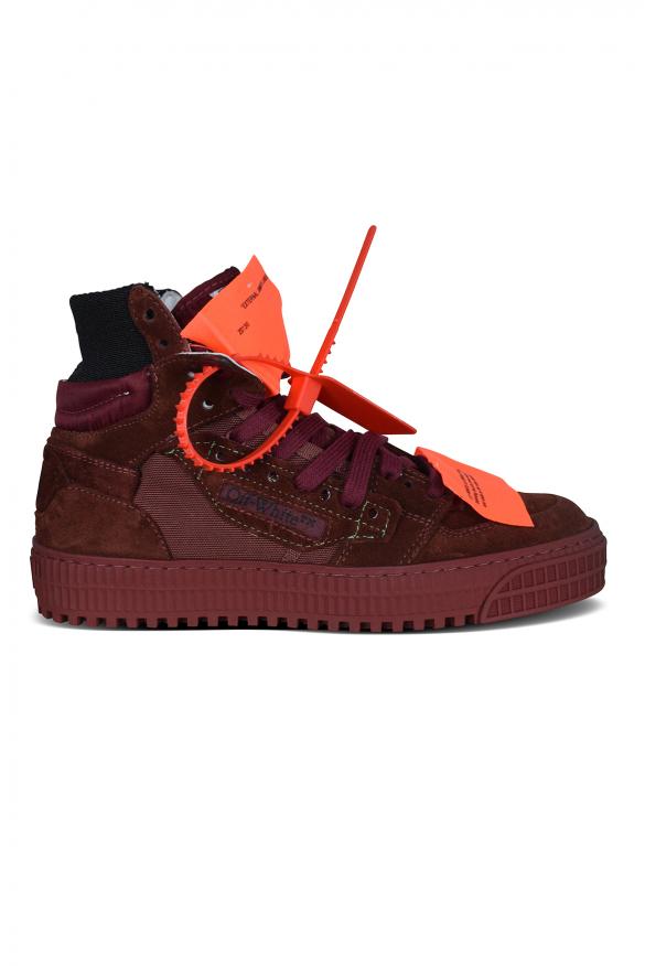 Luxury sneakers for women - Off Court 3.0 sneakers in burgundy suede