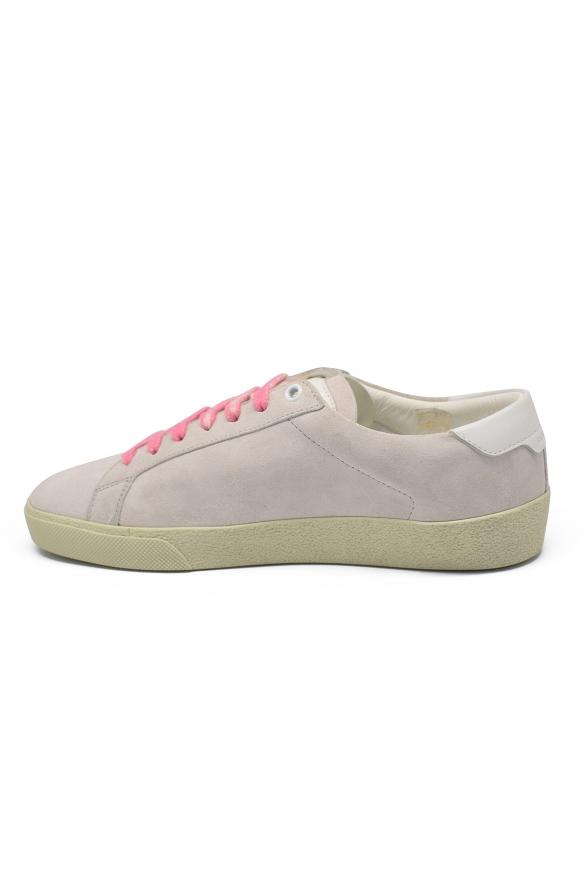 Men's luxury sneakers - Saint Laurent Court Classic SL/06 beige sneakers