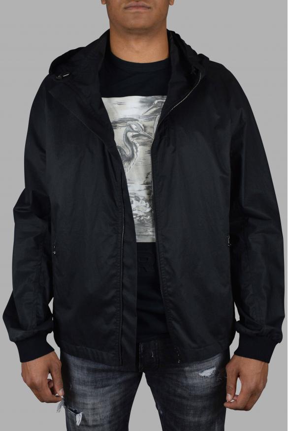Men's luxury jacket - Lanvin black hooded jacket.