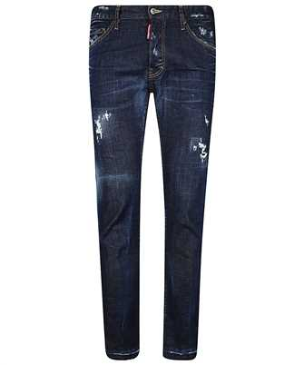 ripped-detail slim-fit jeans