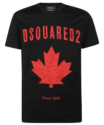 dsquared2 d2 leaf t-shirt