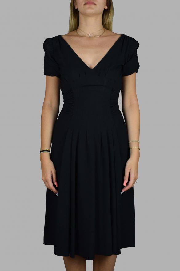 Luxury dress for women - Prada black dress with long belt
