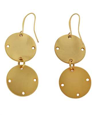 two drop coins earrings