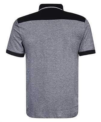 contrast-collar polo shirt
