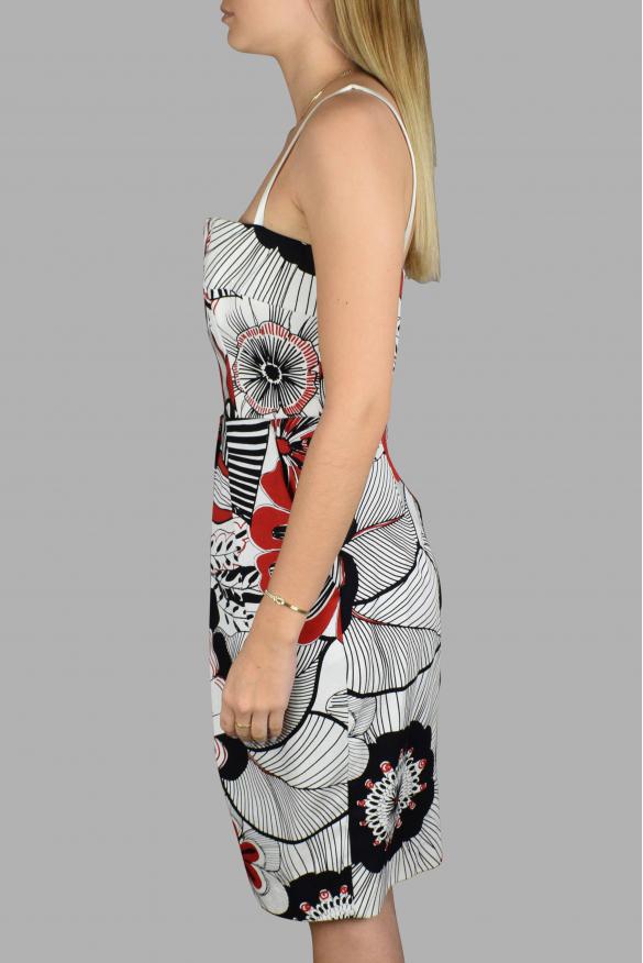 Luxury dress for women - Dolce & Gabanna white patterned strap dress