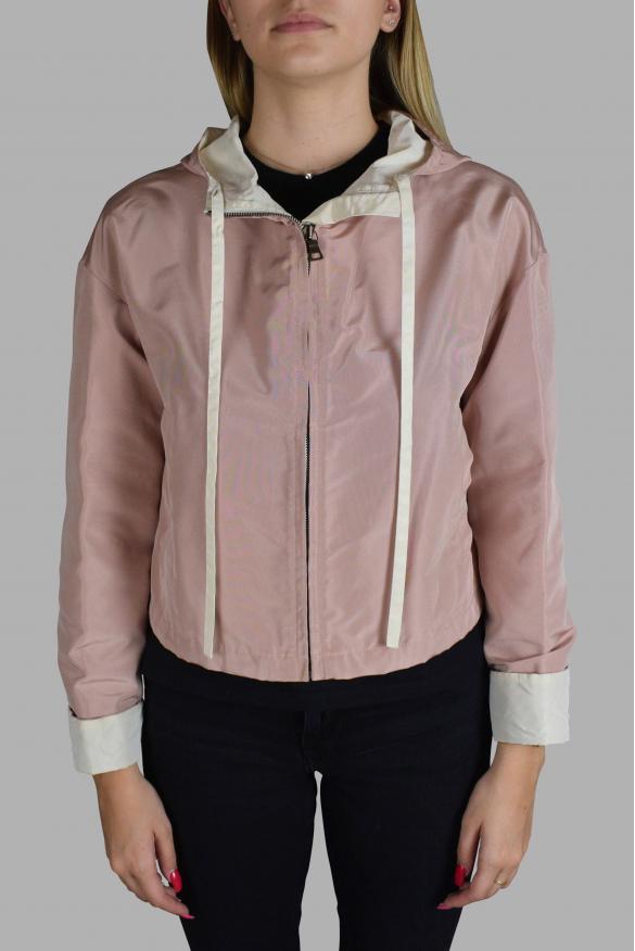 Women's luxury jacket - Prada pink hooded jacket