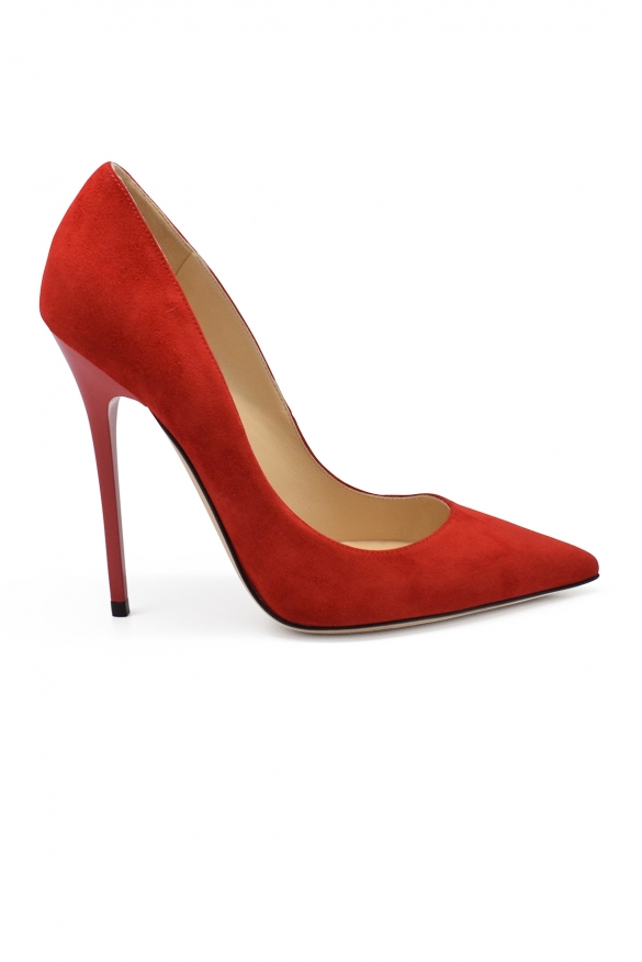 Luxury shoes for women - Jimmy Choo Anouk pumps in red suede