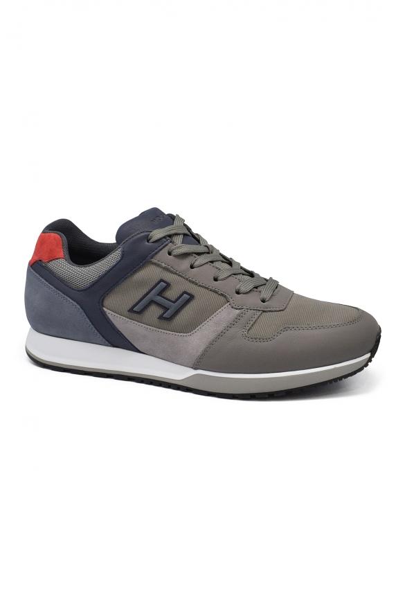 Luxury sneakers for men - H321 Hogan blue and grey sneakers