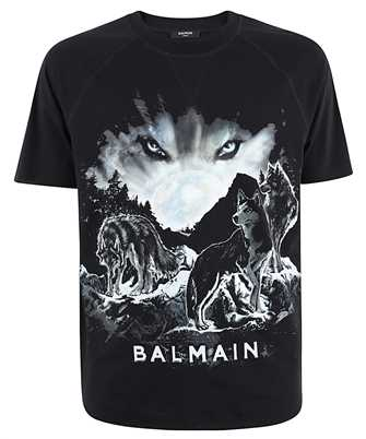 balmain printed design t-shirt