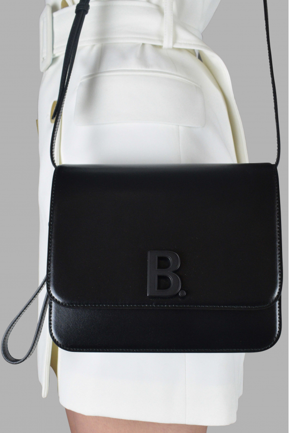 Luxury handbag - Bdot Balenciaga handbag in black calfskin