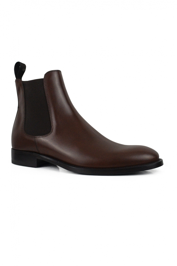 Luxury shoes for men - Brown leather boots