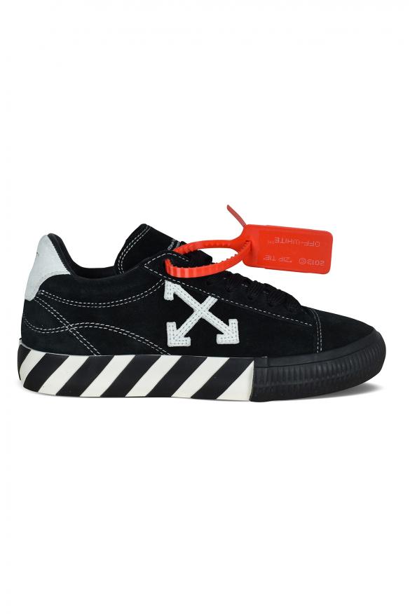 Luxury sneakers for men - Low Vulcanized sneakers in black suede