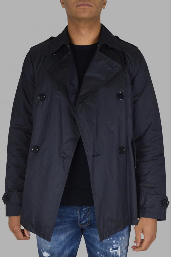 Men's luxury coat - Prada navy blue coat with stripes