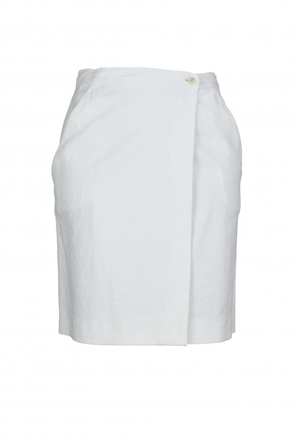 Luxury skirt for women - Prada white skirt with button closure