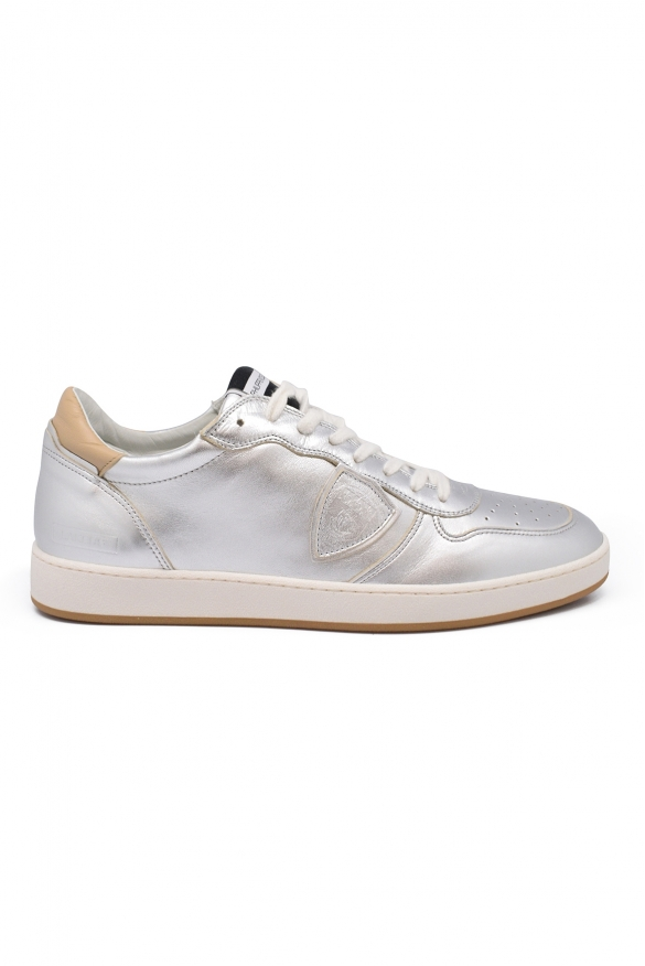 Luxury sneakers for men - Philippe Model Lakers silver sneakers
