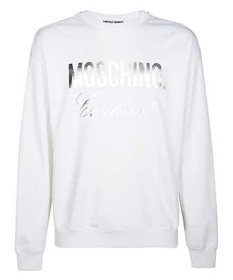 moschino laminated logo sweatshirt