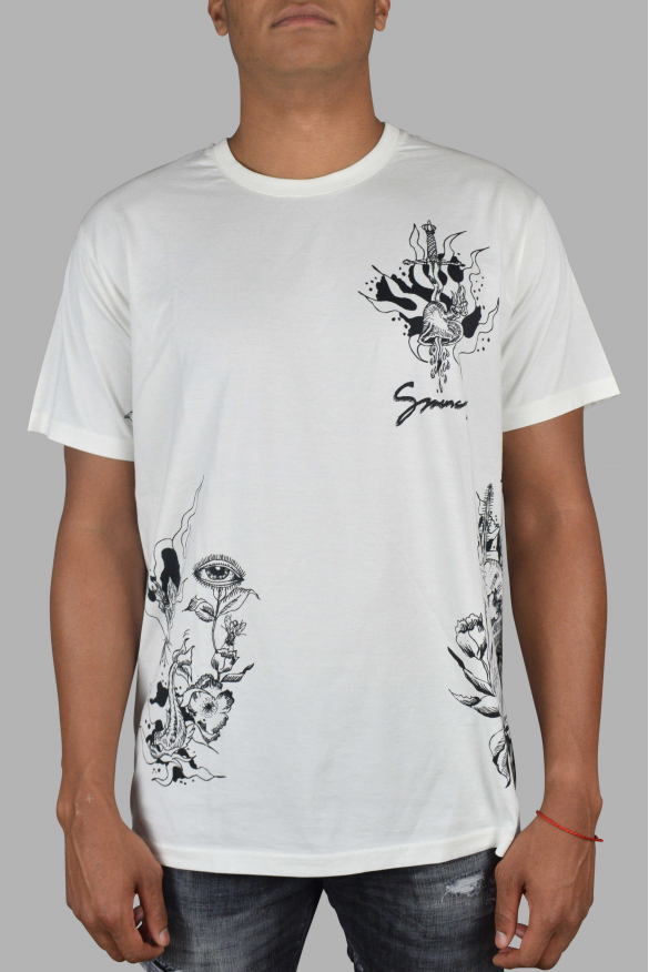 Men's luxury t-shirt - Givenchy white t-shirt with black prints