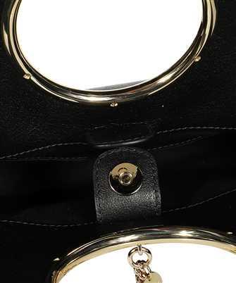 mara small suede ring handle tote bag
