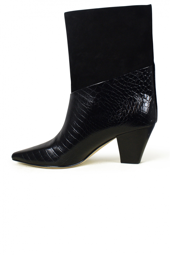 Women's luxury boots - Jimmy Choo Bear model in leather and suede