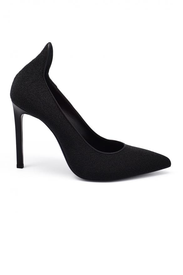 Luxury shoes for women - Saint Laurent Paris pumps in black pearl