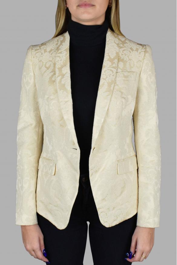 Women's luxury jacket - Off-white Dolce & Gabanna blazer with embroidery