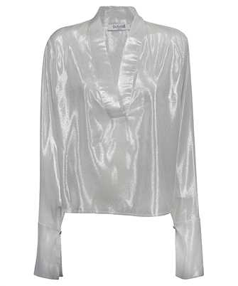 oversized cuff detailed lame shirt