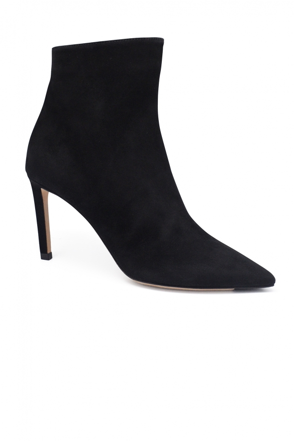 Luxury shoes for women - Jimmy Choo Helaine 85 boots in black suede