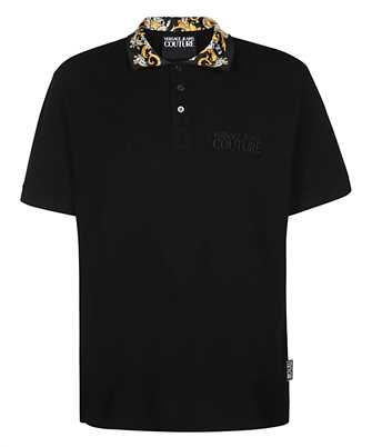 Barocco-print cotton polo shirt