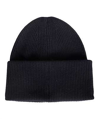 rib-knit beret beanie