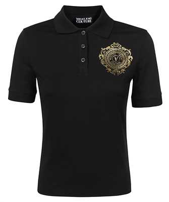 embroidered logo motif polo shirt