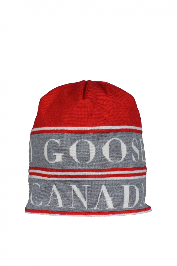 Men's luxury beanie - Reversible red and black beanie Canada Goose