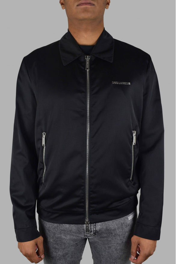 Men's luxury jacket - Black jacket Dsquared2 with classic collar