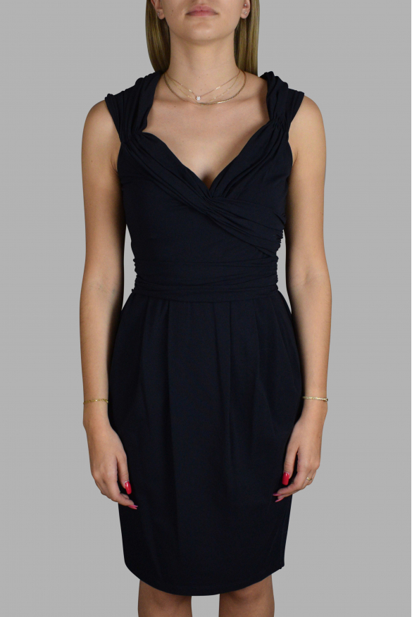 Luxury dress for women - Prada blue dress with draped details