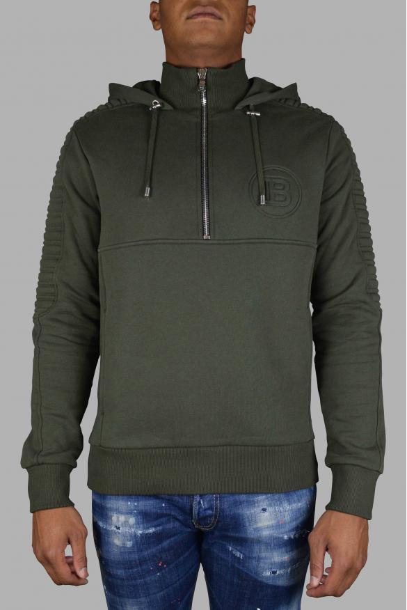 Men's luxury sweatshirt - Balmain khaki hooded sweatshirt