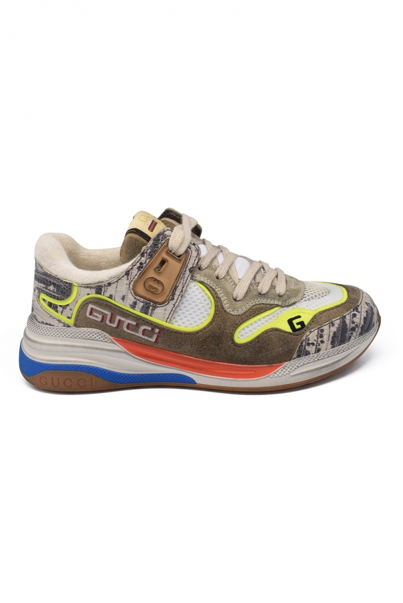 Luxury sneakers for women - Ultrapace Gucci sneakers in aged taupe