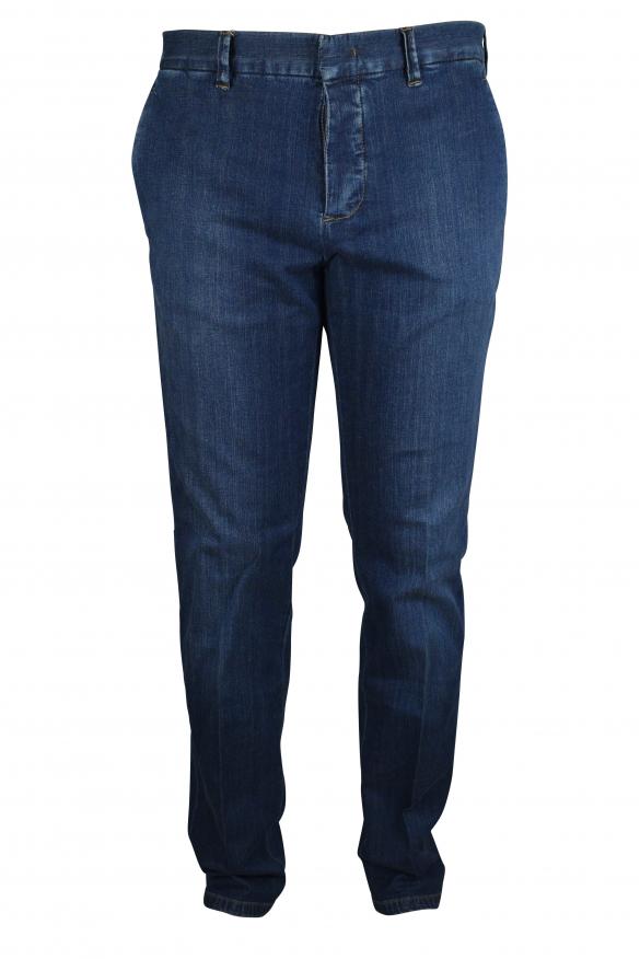 Luxury trousers for men - Prada blue jeans effect trousers