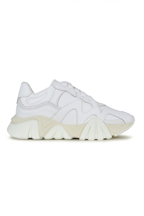 Men's luxury sneakers - Versace sneakers model Squalo white and beige