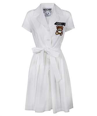 teddy bear bead-embellished shirt dress