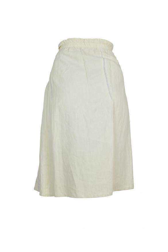 Luxury skirt for women - Prada off-white pleated skirt