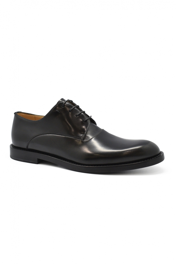 Luxury shoes for men - Fendy lace-up shoes in black leather