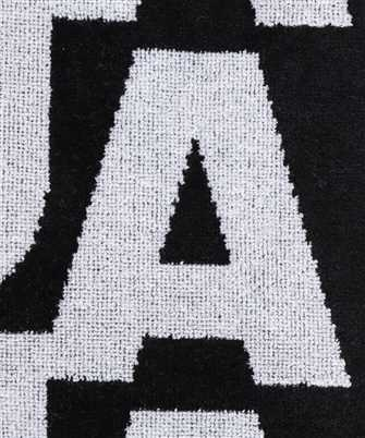 logo print beach towel