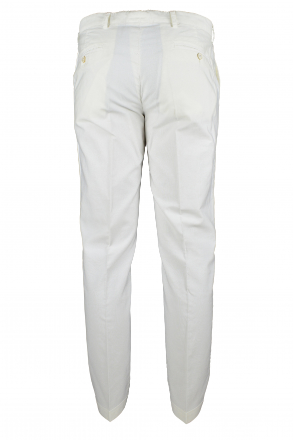 Luxury trousers for men - Prada white trousers with hems