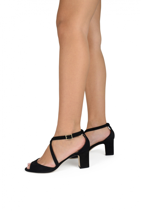 Luxury shoes for women - Jimmy Choo Carrie 65 sandals in black suede