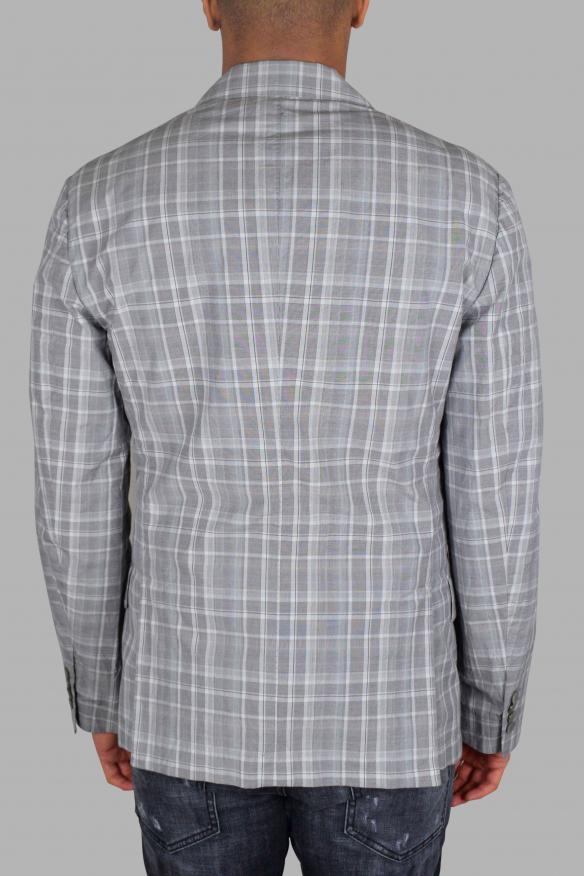 Men's luxury jacket - Gray checkered Dolce & Gabbana jacket