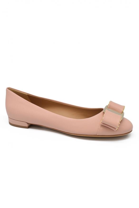 Luxury shoes for women - Salvatore Ferragamo Varina ballet flats in pink leather